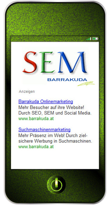 Suchmaschinenmarketing SEM Barrakuda Onlinemarketing