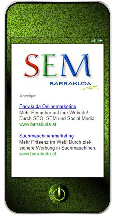 Suchmaschinenmarketing SEM Barrakuda Onlinemarketing